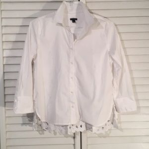 Ann Taylor white blouse with lace back